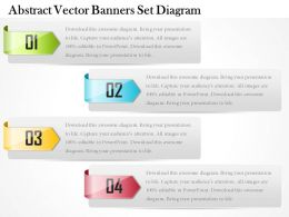 0714 Business Consulting Abstract Vector Banners Set Diagram Powerpoint Slide Template
