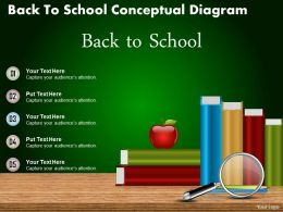 0714 Business Consulting Back To School Conceptual Diagram Powerpoint Slide Template