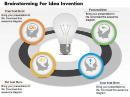 0714 Business Consulting Brainstorming For Idea Invention Powerpoint Slide Template