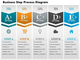 0714 Business Consulting Business Step Process Diagram Powerpoint Slide Template