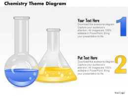 0714 Business Consulting Chemistry Theme Diagram Powerpoint Slide Template