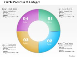 0714 Business Consulting Circle Process Of 4 Stages Powerpoint Slide Template