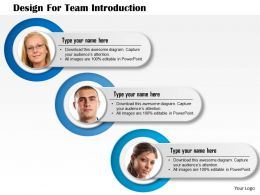 0714 Business Consulting Design For Team Introduction Powerpoint Slide Template