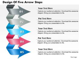 0714 Business Consulting Design Of Five Arrow Steps Powerpoint Slide Template