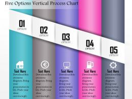0714 Business Consulting Five Options Vertical Process Chart Powerpoint Slide Template