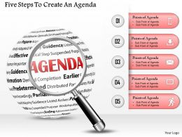 0714 Business consulting Five Steps To Create An Agenda Powerpoint Slide Template