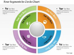 0714 Business Consulting Four Segments In Circle Chart Powerpoint Slide Template