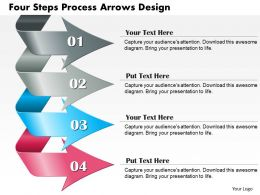 0714 Business Consulting Four Steps Process Arrows Design Powerpoint Slide Template