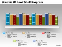 0714 Business Consulting Graphic Of Book Shelf Diagram Powerpoint Slide Template