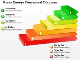 0714 Business Consulting Green Energy Conceptual Diagram Powerpoint Slide Template