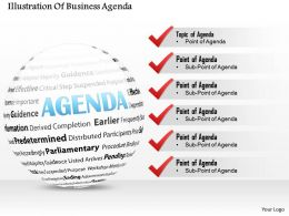 0714 Business consulting Illustration Of Business Agenda Powerpoint Slide Template