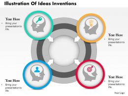 0714 Business Consulting Illustration Of Ideas Inventions Powerpoint Slide Template