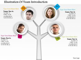 0714 Business Consulting Illustration Of Team Introduction Powerpoint Slide Template