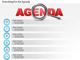 0714 Business consulting Searching For An Agenda Powerpoint Slide Template