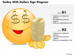 0714 Business Consulting Smiley With Dollars Sign Diagram Powerpoint Slide Template