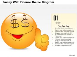 0714 Business Consulting Smiley With Finance Theme Diagram Powerpoint Slide Template