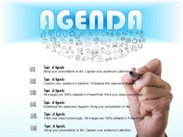0714 Business consulting Write An Agenda For A Meeting Powerpoint Slide Template