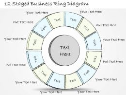 0714 Business Ppt Diagram 12 Staged Business Ring Diagram Powerpoint Template