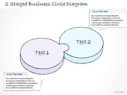 0714 Business Ppt Diagram 2 Staged Business Circle Diagram Powerpoint Template