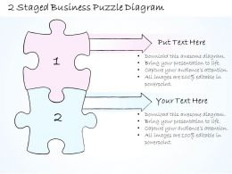 0714 Business Ppt Diagram 2 Staged Business Puzzle Diagram Powerpoint Template