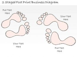 0714 Business Ppt Diagram 2 Staged Foot Print Business Diagram Powerpoint Template
