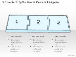 0714 Business Ppt Diagram 3 Linear Step Business Process Diagram Powerpoint Template