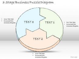 0714 Business Ppt Diagram 3 Stage Business Puzzle Diagram Powerpoint Template