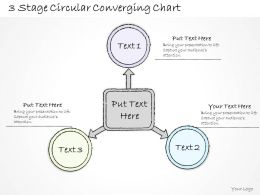 0714 Business Ppt Diagram 3 Stage Circular Converging Chart Powerpoint Template