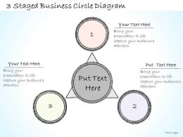 0714 Business Ppt Diagram 3 Staged Business Circle Diagram Powerpoint Template