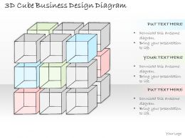 0714 Business Ppt Diagram 3D Cube Business Design Diagram Powerpoint Template