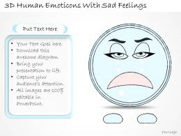 0714 Business Ppt Diagram 3D Human Emoticons With Sad Feelings Powerpoint Template