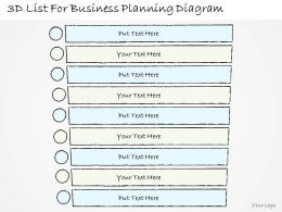 0714 Business Ppt Diagram 3D List For Business Planning Diagram Powerpoint Template