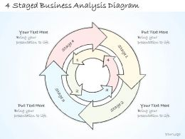 0714 Business Ppt Diagram 4 Staged Business Analysis Diagram Powerpoint Template