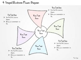 0714 Business Ppt Diagram 4 Staged Business Flower Diagram Powerpoint Template