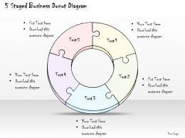 0714 Business Ppt Diagram 5 Staged Business Donut Diagram Powerpoint Template