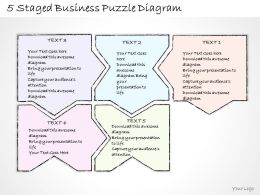 0714 Business Ppt Diagram 5 Staged Business Puzzle Diagram Powerpoint Template
