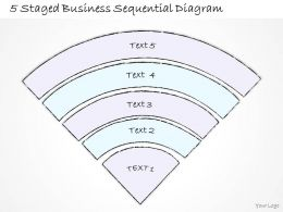 0714 Business Ppt Diagram 5 Staged Business Sequential Diagram Powerpoint Template