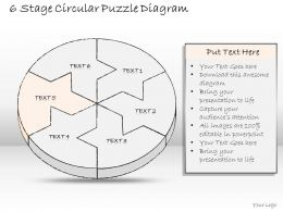 37170235 Style Puzzles Circular 6 Piece Powerpoint Presentation Diagram Infographic Slide