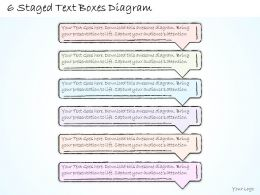 0714 Business Ppt Diagram 6 Staged Text Boxes Diagram Powerpoint Template
