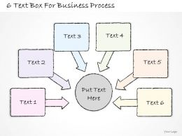 0714 Business Ppt Diagram 6 Text Box For Business Process Powerpoint Template