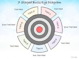 0714 Business Ppt Diagram 7 Staged Bulls Eye Diagram Powerpoint Template