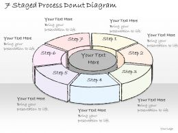 0714 Business Ppt Diagram 7 Staged Process Donut Diagram Powerpoint Template