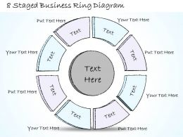 0714 Business Ppt Diagram 8 Staged Business Ring Diagram Powerpoint Template