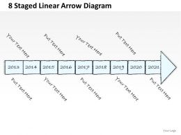 0714 Business Ppt Diagram 8 Staged Linear Arrow Diagram Powerpoint Template