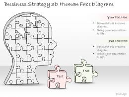 0714 Business Ppt Diagram Business Strategy 3d Human Face Diagram Powerpoint Template