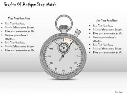 0714 Business Ppt Diagram Graphic Of Antique Stop Watch Powerpoint Template