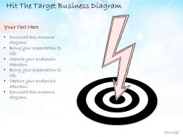 0714 Business Ppt Diagram Hit The Target Business Diagram Powerpoint Template