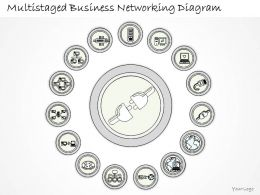 0714 Business Ppt Diagram Multistaged Business Networking Diagram Powerpoint Template