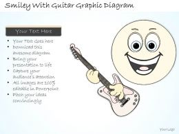 0714 Business Ppt Diagram Smiley With Guitar Graphic Diagram Powerpoint Template