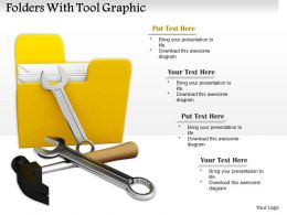 0714 Folders With Tool Graphic Diagram Image Graphics For Powerpoint